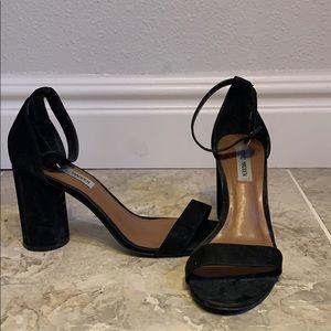 Black strapping Steve Madden heel sandals